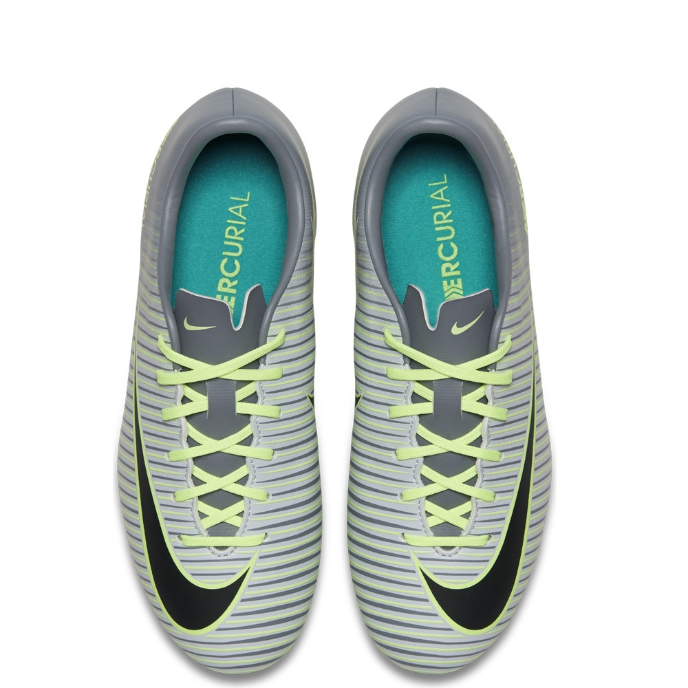 00202c87b Nike Youth Mercurial Vapor XI FG Soccer Cleats (Pure Platinum Black Ghost  Green)