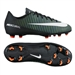 Nike Youth Mercurial Vapor XI FG Soccer Cleats (Black/White/Electric Green)