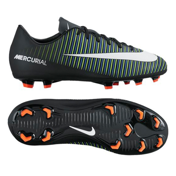 online store 3dee9 56ec5 Nike Youth Mercurial Vapor XI FG Soccer Cleats (Black/White/Electric Green)