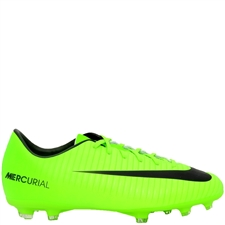 Nike Youth Mercurial Vapor XI FG Soccer Cleats (Electric Green/Black/Flash Lime/White)