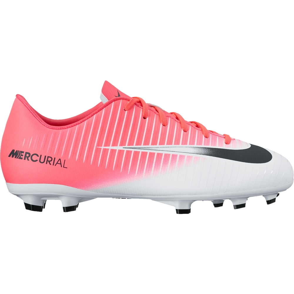 Nike Youth Mercurial Victory VI FG Soccer Cleats (Racer Pink/Black/White)