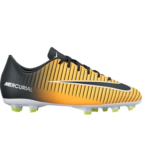 Nike Youth Mercurial Victory VI FG Soccer Cleats (Laser Orange/Black/White/Volt)