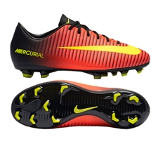 Nike Youth Mercurial Vapor XI FG Soccer Cleats (Total Crimson/Volt/Black/Pink Blast)