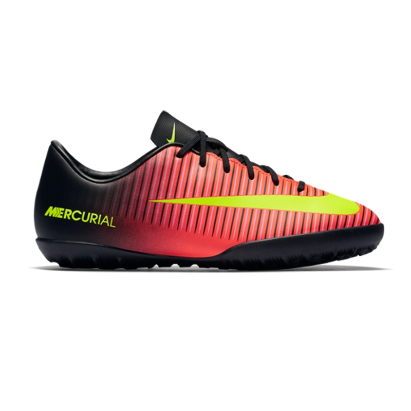 14ce2ba4f3 Nike Youth Mercurial Vapor XI Turf Soccer Shoes (Total Crimson/Volt/Black/Pink  ...