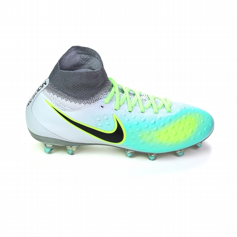 Nike Magista Obra II FG Youth Soccer Cleats Pure Platinum Black Ghost Green