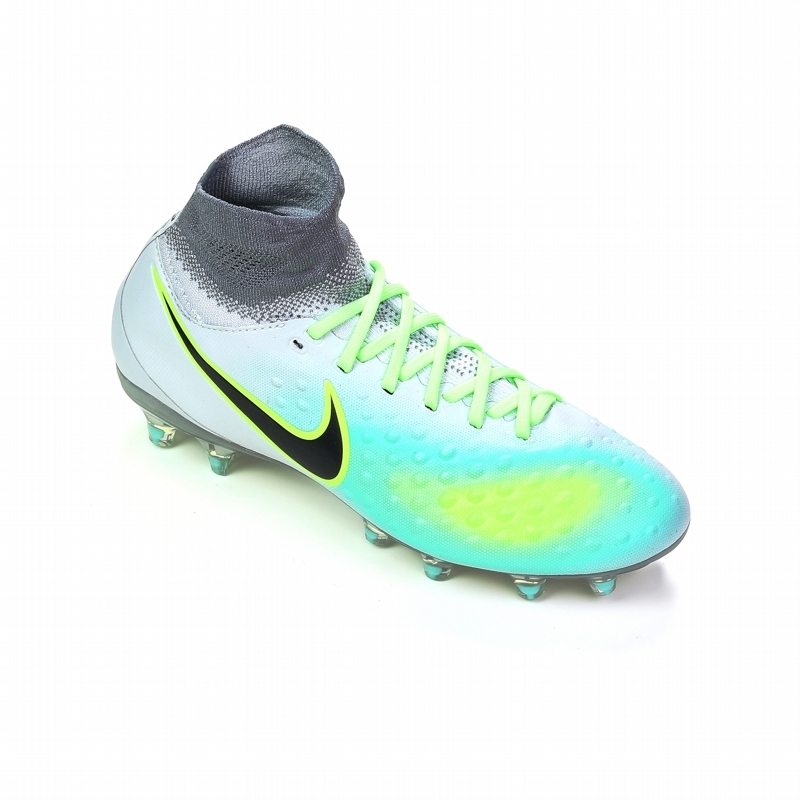separation shoes 5f5ae 85eb8 Nike Magista Obra II FG Youth Soccer Cleats (Pure Platinum Black Ghost Green )