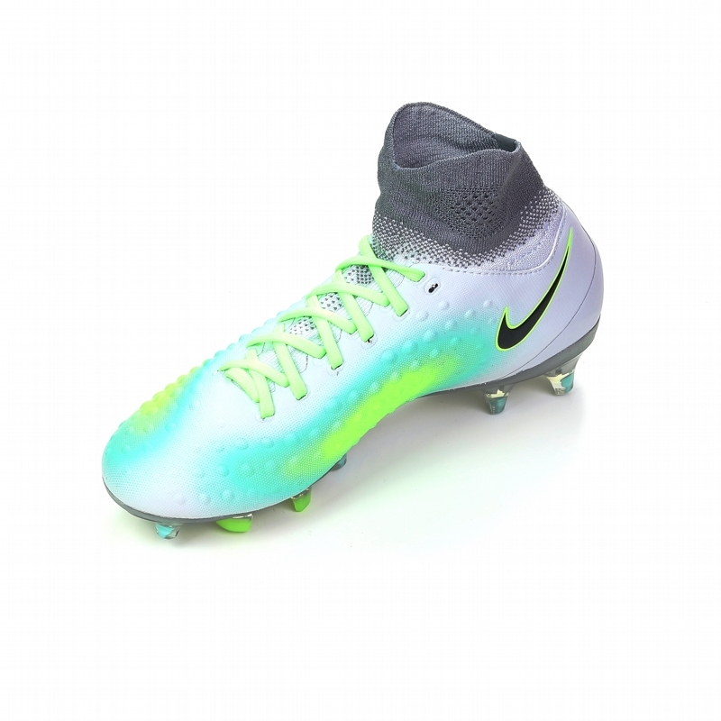 separation shoes fd105 8b00f Nike Magista Obra II FG Youth Soccer Cleats (Pure Platinum Black Ghost Green )