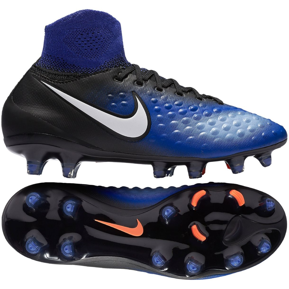 ca8b7d57b413 Nike Magista Obra II FG Youth Soccer Cleats (Black/White/Paramount ...