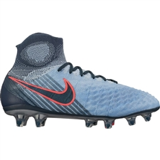 Nike Magista Obra II FG Youth Soccer Cleats (Light Armory Blue/Armory Navy/Armory Blue)