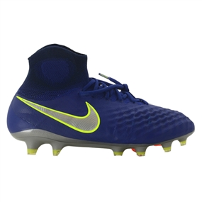 Nike Magista Obra II FG Youth Soccer Cleats (Deep Royal Blue/Chrome/Total Crimson)