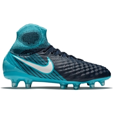 Nike Youth Magista Obra II FG Soccer Cleats (Obsidian/White/Gamma Blue/Glacier Blue)