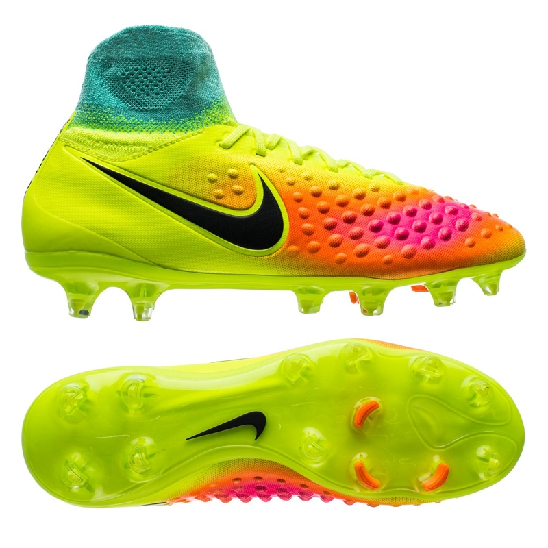 Nike Magista Obra II FG Youth Soccer Cleats Volt Black Total Orange