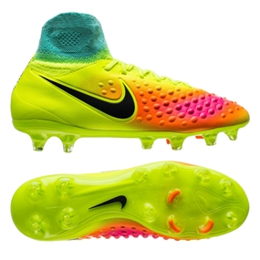 df9dbbdb90da Nike Magista Obra II FG Youth Soccer Cleats (Volt Black Total Orange ...