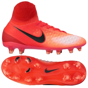 Nike Magista Obra II FG Youth Soccer Cleats (Total Crimson/Black/University Red)