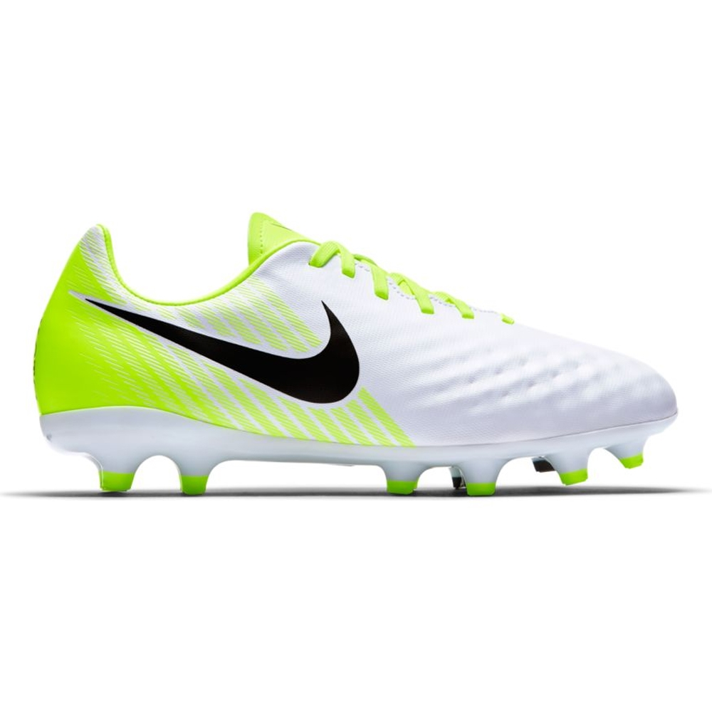 ef7bd3b5b535 Nike Magista Opus II FG Youth Soccer Cleats (White/Black/Volt/Pure ...