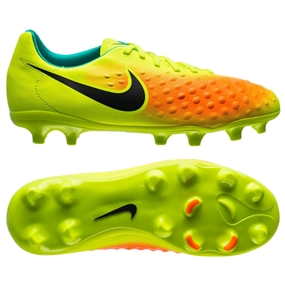 Nike Magista Opus II FG Youth Soccer Cleats (Volt/Black/Total Orange/Clear Jade)