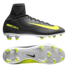 Nike Youth Mercurial SuperFly V CR7 FG Soccer Cleats (Seaweed/Volt/Hasta/White)