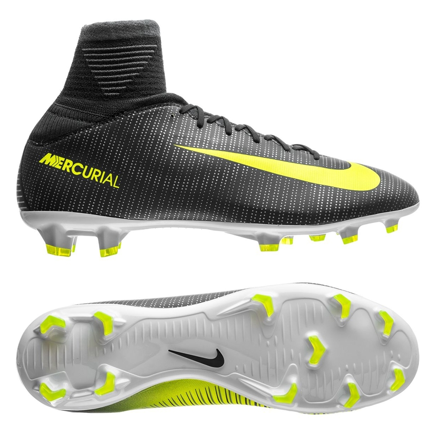 Nike Youth Mercurial SuperFly V CR7 FG Soccer Cleats (Seaweed/Volt/Hasta/