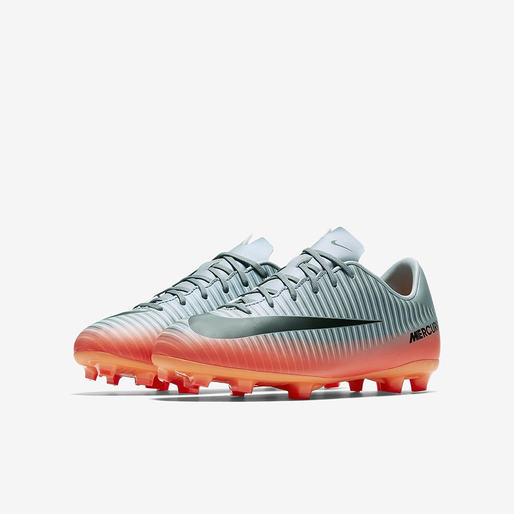 Nike Youth Mercurial Victory VI CR7 FG Soccer Cleats (Cool Grey Metallic  Hematite Wolf ... fb43906f4d