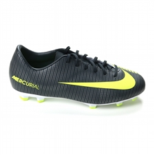 Nike Youth Mercurial Vapor XI CR7 FG Soccer Cleats (Seaweed/Volt/Hasta/White)