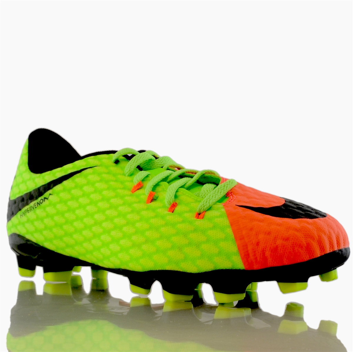acc63db4c3c Nike Hypervenom Phelon III FG Youth Soccer Cleats (Electric Green Black Hyper  Orange Volt)