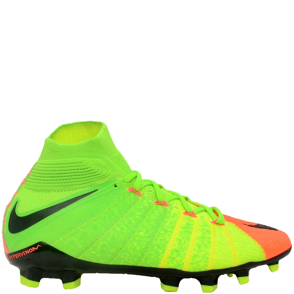70aa5daa5a7 Nike Youth Hypervenom Phantom III DF FG Soccer Cleats (Electric Green Black Hyper  Orange Volt)