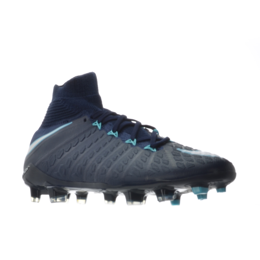 716a7f76d2a Nike Youth Hypervenom Phantom III DF FG Soccer Cleats (Obsidian White Gamma  ...