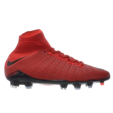 Nike Youth Hypervenom Phantom III DF FG Soccer Cleats (University Red/Black/Bright Crimson)