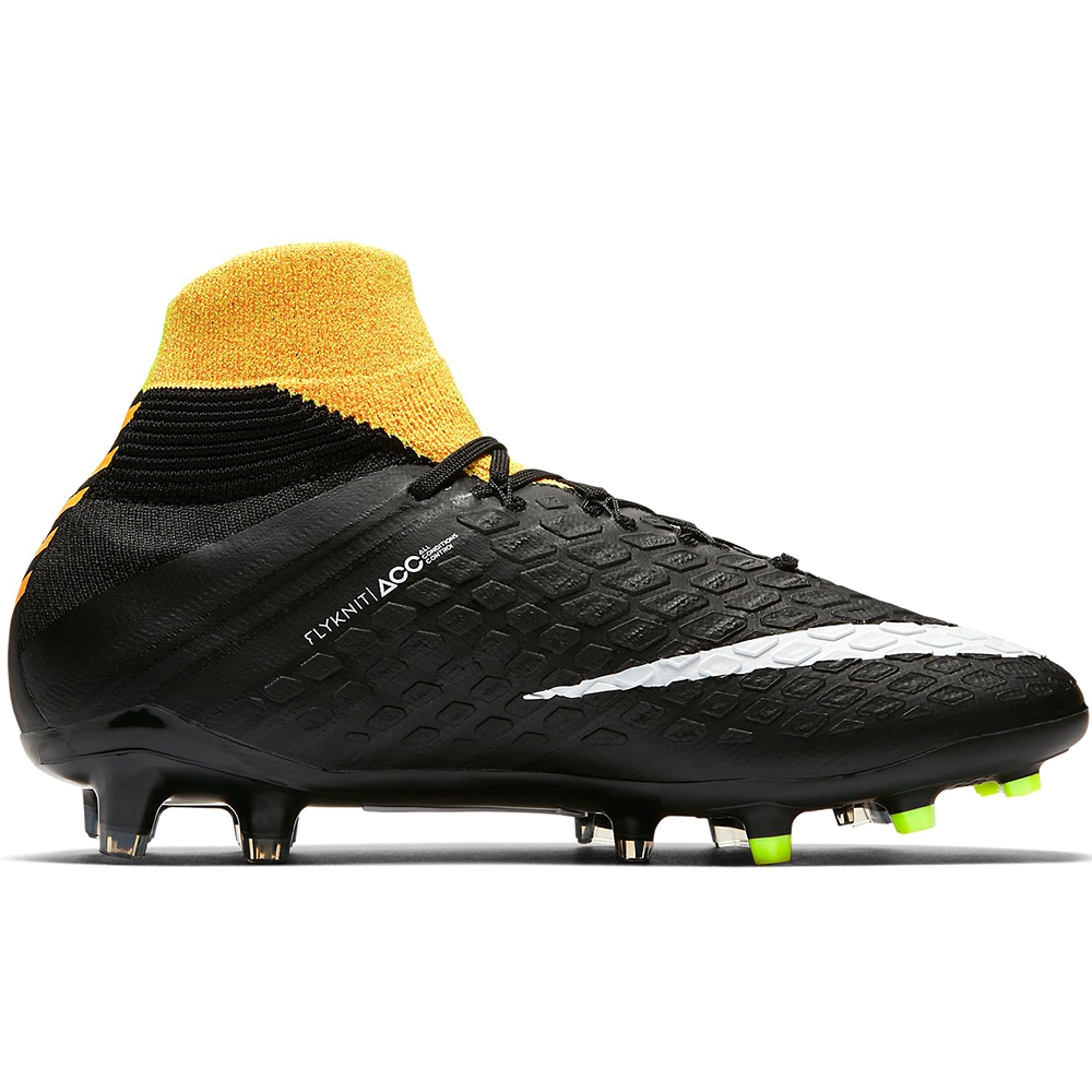 Nike Youth Hypervenom Phantom III DF FG Soccer Cleats (Laser Orange White Black Volt)   3fd7423298a4