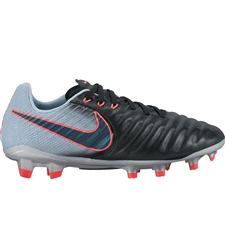 Nike Youth Tiempo Legend IV FG Soccer Cleats (Black/Armory Navy/Light Armory Blue)
