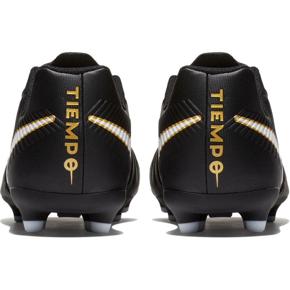 4aaa328f71f4 Nike Youth Tiempo Rio IV FG Soccer Cleats (Black White)