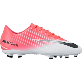 Nike Youth Mercurial Vapor XI FG Soccer Cleats (Racer Pink/Black/White)