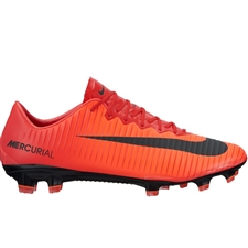 Nike Youth Mercurial Vapor XI FG Soccer Cleats (University Red/Black/Bright Crimson)