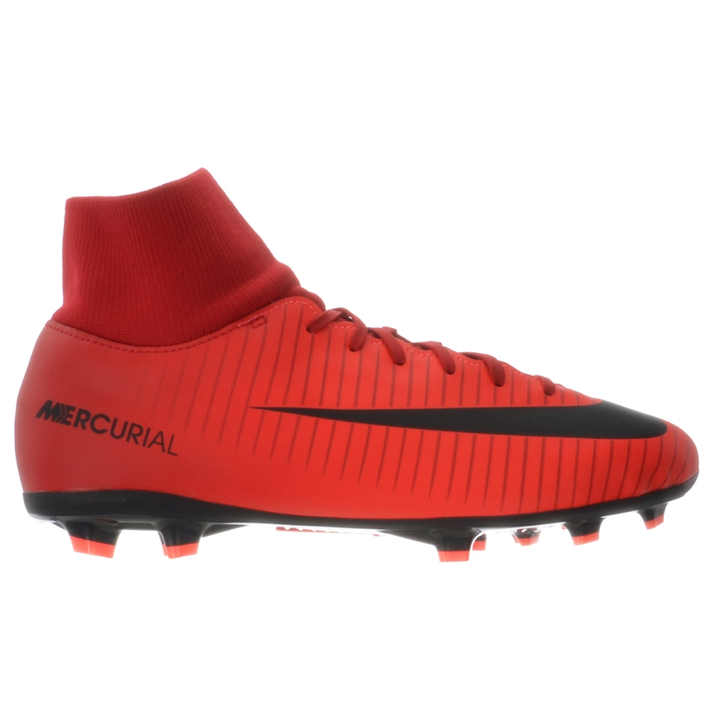 Nike Youth Mercurial Victory VI DF FG Soccer Cleats (University Red/Black/ Bright