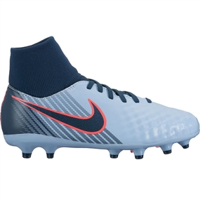 Nike Youth Magista Onda II DF FG Soccer Cleats (Light Armory Blue/Armory Navy/Armory Blue)