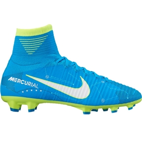 Nike Youth Mercurial SuperFly V FG Neymar Soccer Cleats (Blue Orbit/White/Armory Navy)