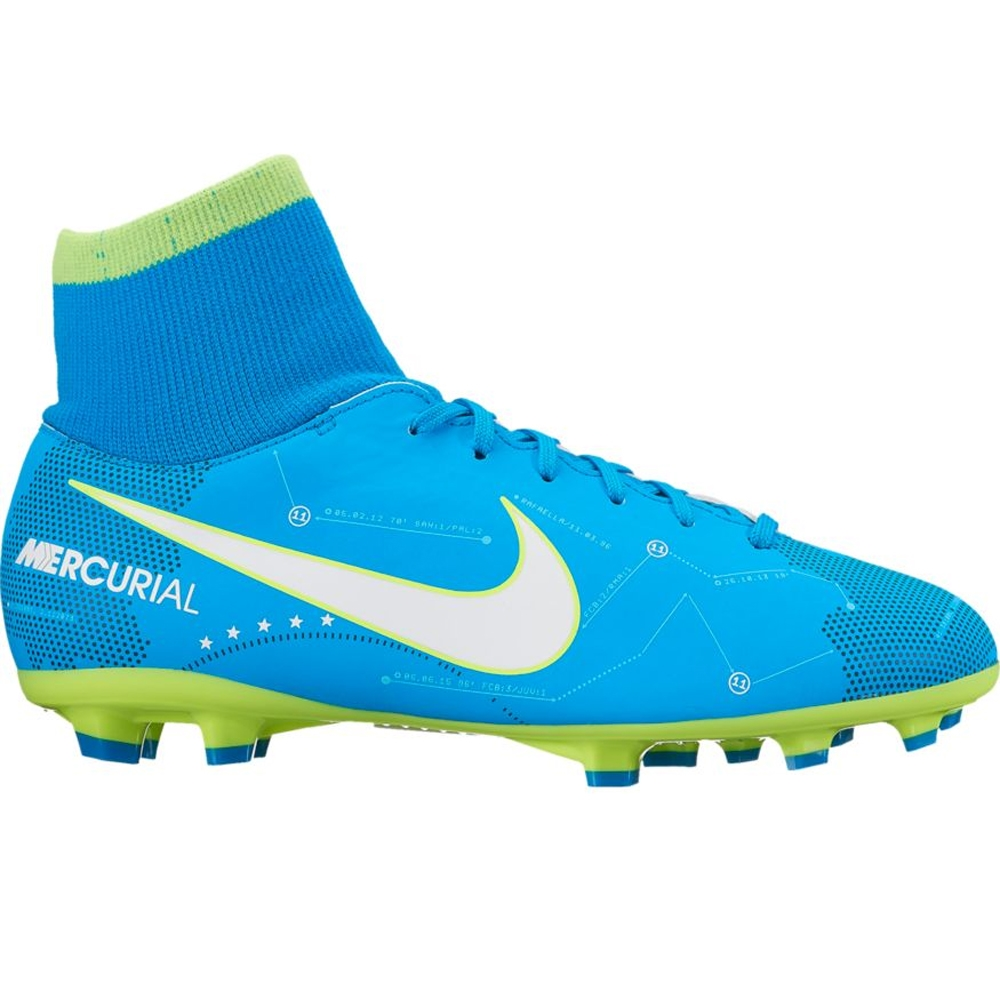 8ae1e9ffbba Nike Youth Mercurial Victory VI DF FG Neymar Soccer Cleats (Blue  Orbit White Armory Navy)