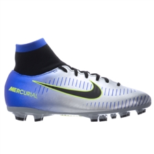 Nike Neymar Youth Mercurial Victory VI DF FG Soccer Cleats (Racer Blue/Black/Chrome/Volt)
