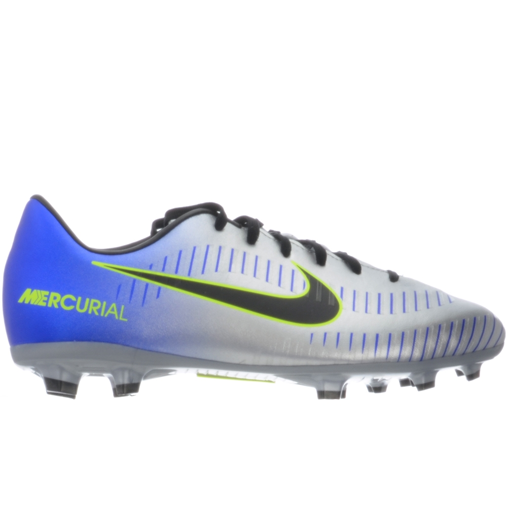 newest 54fc2 9a1c7 Nike Neymar Youth Mercurial Victory VI FG Soccer Cleats (Racer  Blue/Black/Chrome/Volt)