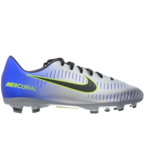 Nike Neymar Youth Mercurial Victory VI FG Soccer Cleats (Racer Blue/Black/Chrome/Volt)