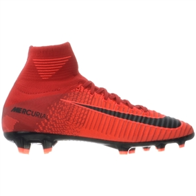 Nike Youth Mercurial SuperFly V FG Soccer Cleats (University Red/Black/Bright Crimson)