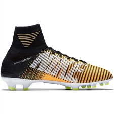 Nike Youth Mercurial SuperFly V FG Soccer Cleats (Laser Orange/Black/White/Volt)