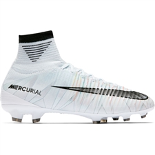 Nike Youth Mercurial SuperFly V CR7 FG Soccer Cleats (Blue Tint/Black/White/Volt)