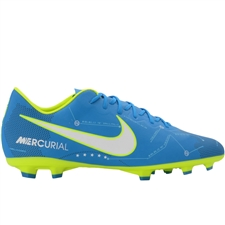 Nike Youth Mercurial Vapor XI FG Neymar Soccer Cleats (Blue Orbit/White/Armory Navy)