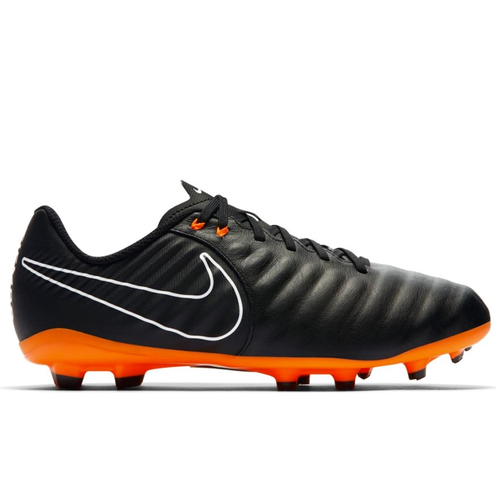 Nike Youth Tiempo Legend VII Academy FG Soccer Cleats (Black/Total  Orange/White