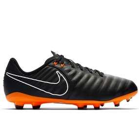 Nike Youth Tiempo Legend VII Academy FG Soccer Cleats (Black/Total Orange/White)