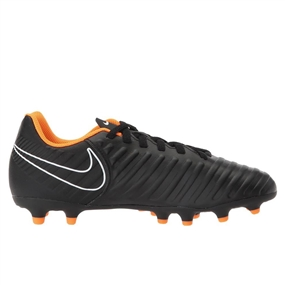 Nike Youth Tiempo Legend VII Club FG Soccer Cleats (Black/Total Orange/White)