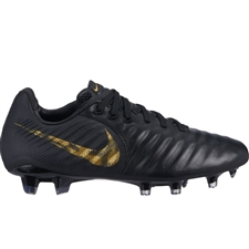 Nike Youth Tiempo Legend 7 Elite FG Soccer Cleats (Black/Metallic Vivid Gold)