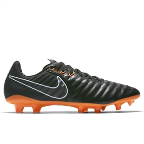 Nike Youth Tiempo Legend VII Elite FG Soccer Cleats (Black/Total Orange/White)