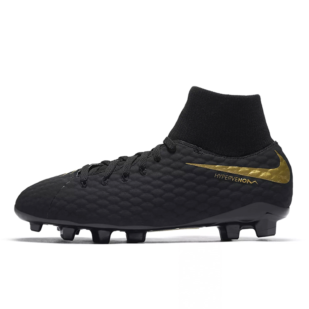 Nike Youth Hypervenom Phantom III Academy DF FG Soccer Cleats (Black ... 6ab919cf2f